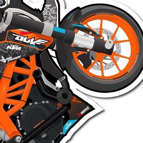Some Details Of Rokbagoros On His Ktm Duke Doodle Ktm Duke