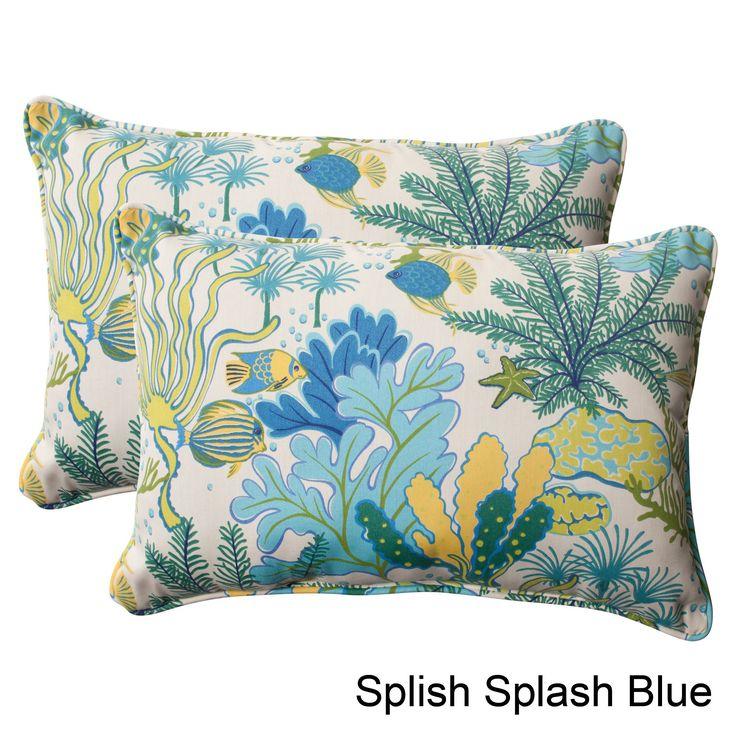 Sofa Covers Pillow Perfect uSplish Splash u Outdoor Oversized Throw Pillows Set of