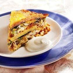 Leftover turkey enchilada stack | Food ideas | Pinterest