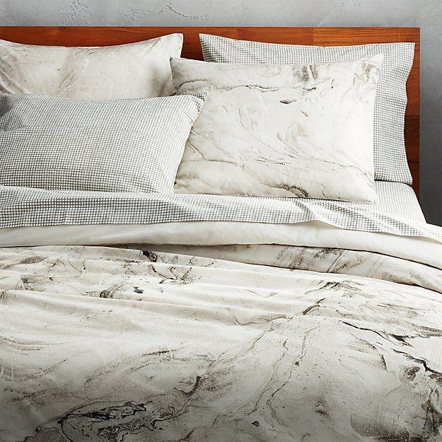 Marbleized Bedding Cb2 Bed Linens Luxury Bed Linen Design