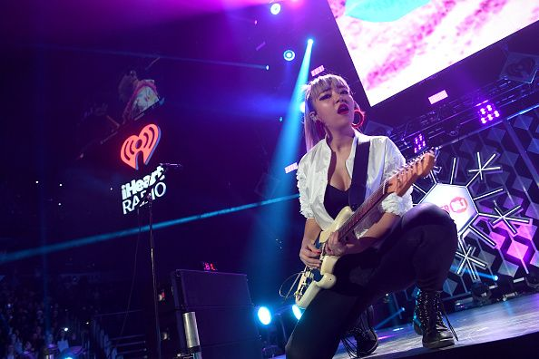 JinJoo Lee of DNCE performs onstage during Power 961's Jingle Ball 2016 at Philips Arena on December 16 2016 in Atlanta Georgia