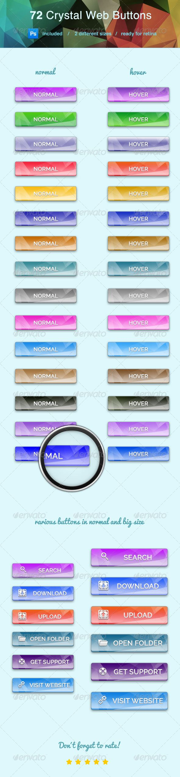 Crystal Clear Web Buttons