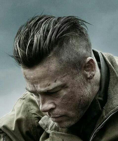 Brad in 'Fury' great hairstyle