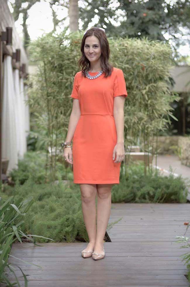 Look da Vic: Vestido Topshop. Vestido laranja e sapatilhas nude. Vic Ceridono…
