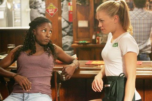 Tara: Know what you sound like? One of those country songs about dumb bitches that let their men beat on them and cheat on them, all in the name of true love.  Sookie: Did you just call me a dumb bitch?