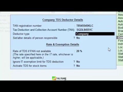 TDS (Tax Deducted at source)in Tally ERP9, How to implement ? - YouTube