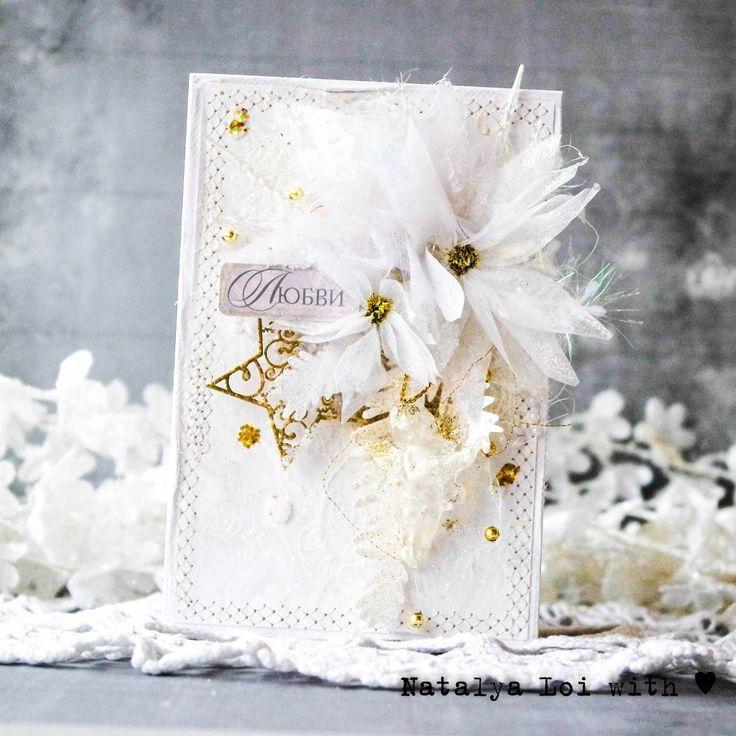 Скрапбукинг, рукоделие, МК новогодние цветы