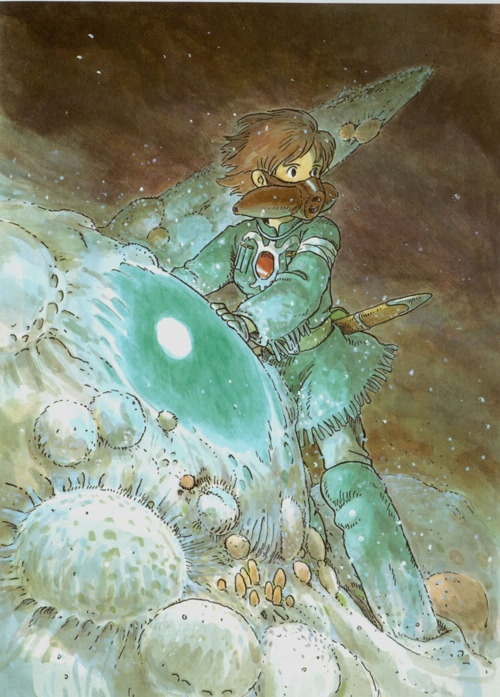 Nausicaä Of The Valley of the Wind Watercolor