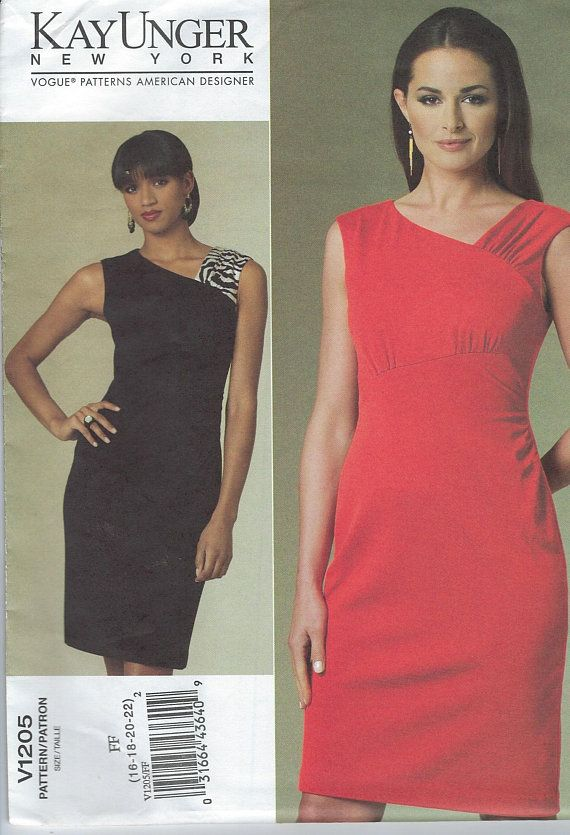 Kay Unger Pattern One Piece Dress Simple Dress Pattern High