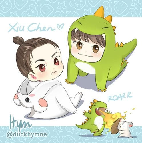 Xiumin-Chen doodle~ /so random  don't repost and don't quote RT pls