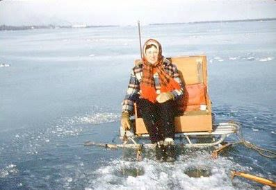 Ice fishing on presque isle bay 1950s erie for Pa ice fishing