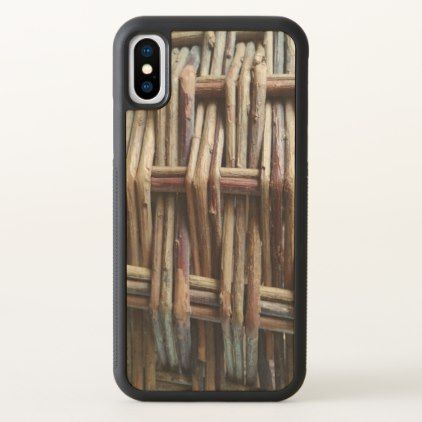 Rustic Basket Print iPhone X Case - rustic gifts ideas customize personalize