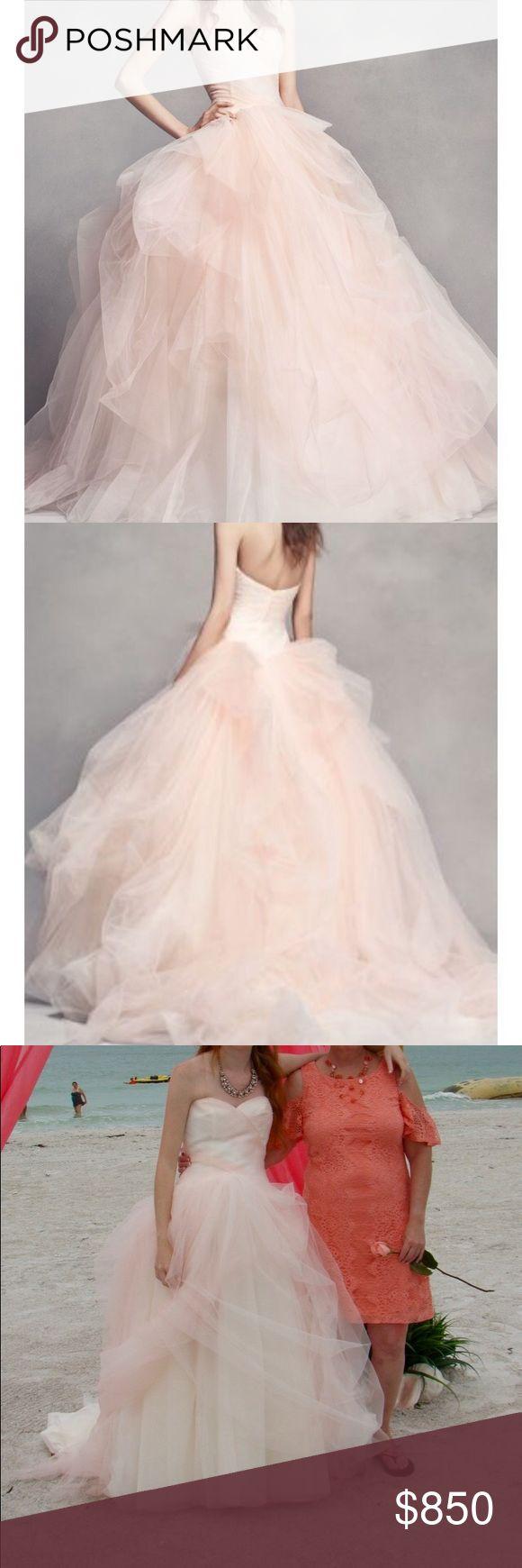 •Vera Wang• Wedding Dress Stunning blush ombré wedding dress by Vera Wang. … – My Posh Closet