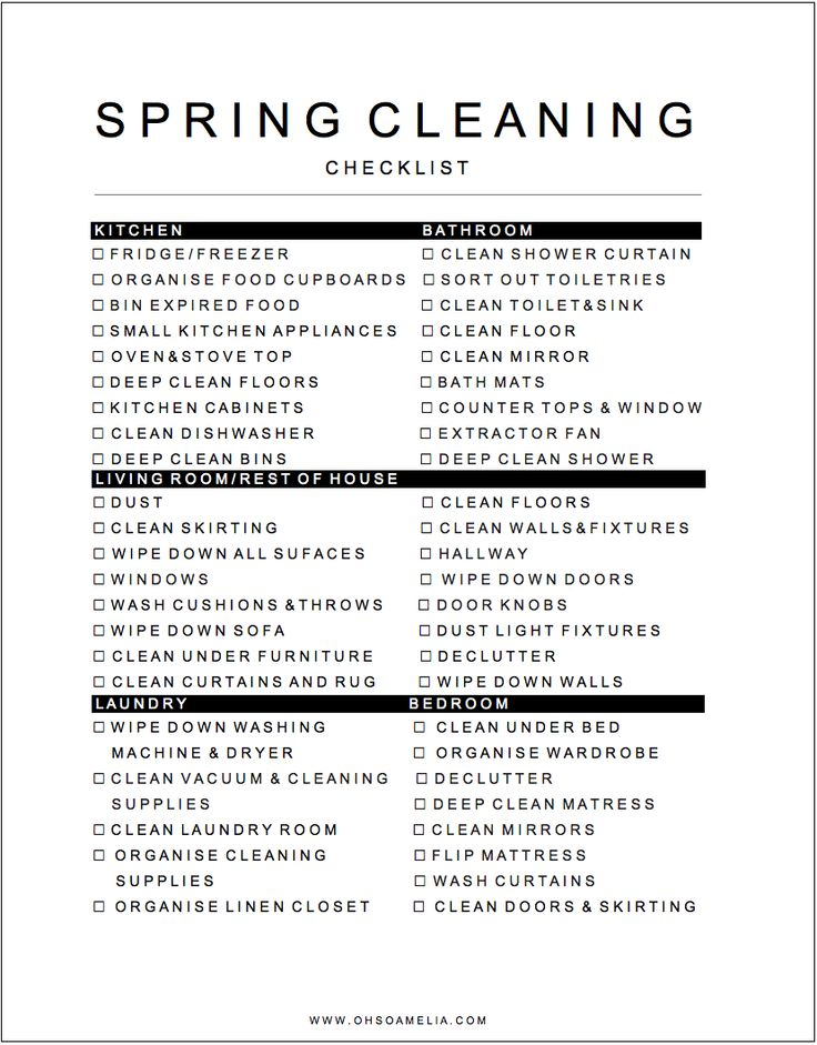 Spring Cleaning Checklist For Busy Mums - Don't get overwhelmed by Spring cleaning! Use our free checklist to stay organised and motivated.