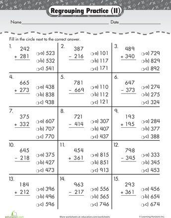 5 digit addition worksheets pdf