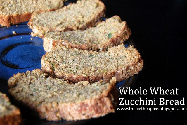 ThriceTheSpice: Whole Wheat Zucchini Bread
