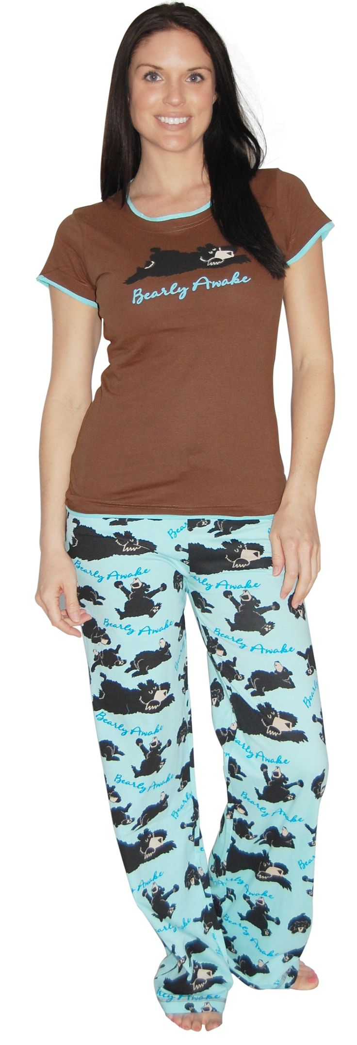 LazyOne Bearly Awake Junior Fitted Tee & Yoga Pant Set