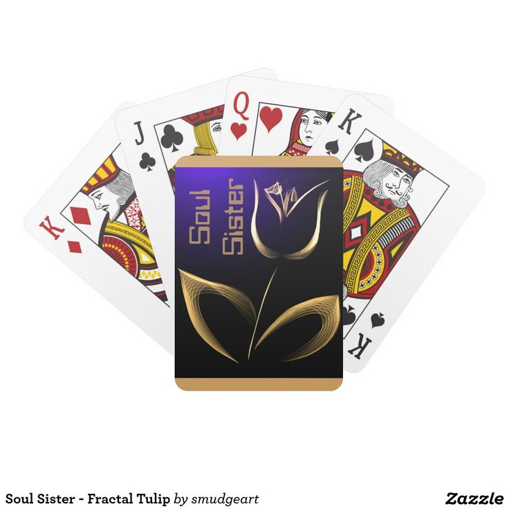 Soul Sister - Fractal Tulip Playing Cards