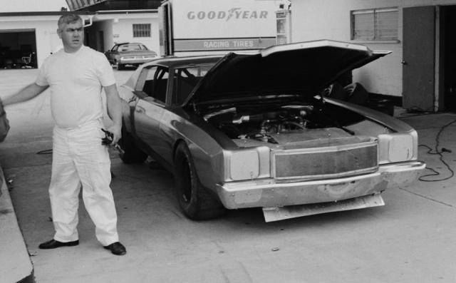 1971 junior johnson prepping to test his all new chevy for Smith motor cars charleston wv