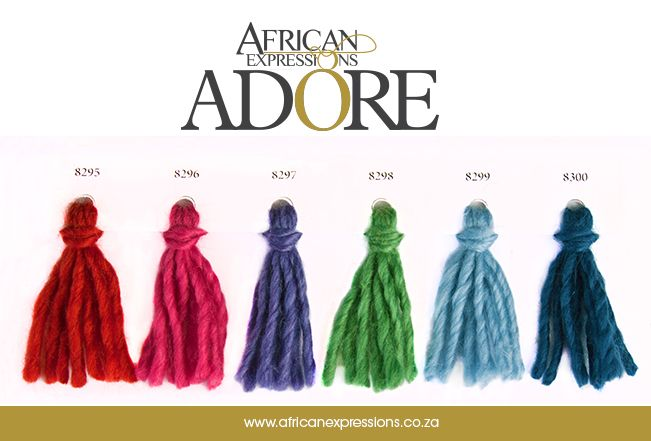 #Adore #AE #AfricanExpressions #AEYarns #Mohair #Yarn #ShadeCard  www.africanexpressions.co.za