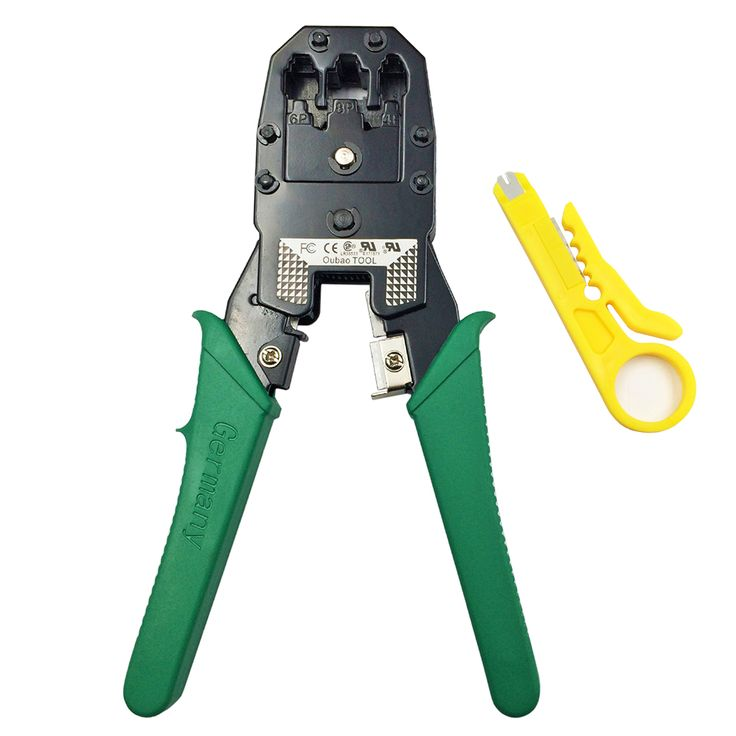 Multi Wire Cable Crimper PC Network Hand Tools LAN Cable Crimping Plier Clamp Tool 3 in 1 Stripper for 8P8C 6P2C-4C-6C 4P4C TL15 #Affiliate
