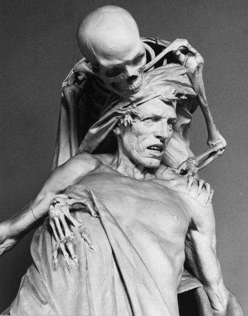 Rinaldo Carnielo, Tenax Vitae    poisonwasthecure    Model of the monument Tenax Vitae  originally by Rinaldo Carnielo  19th Century  Plaster