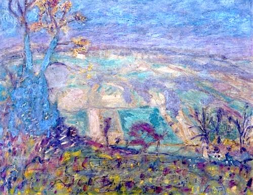 Pierre Bonnard -Paysage (arbre bleu) - 1944