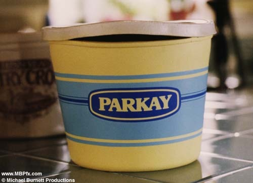 Parkay's talking butter tub