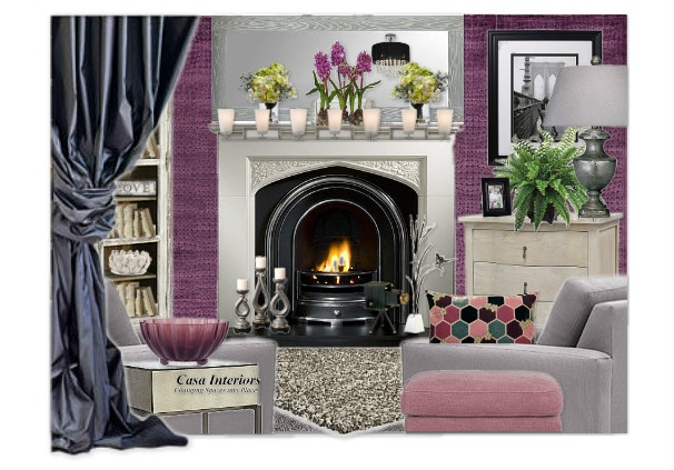 17 best images about purple living room ideas on pinterest for Purple and grey living room ideas