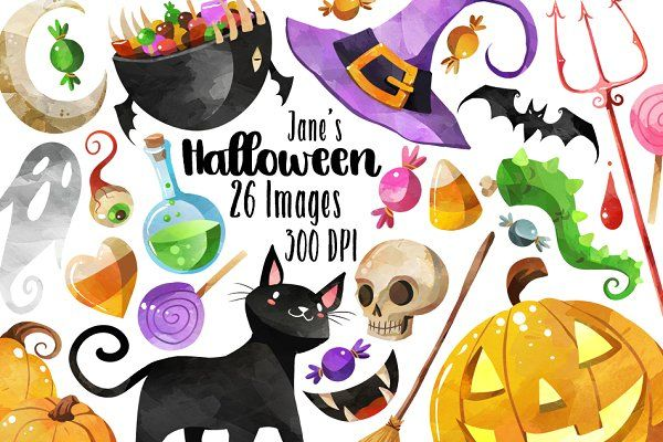 Watercolor Halloween Clipart With Images Halloween Clipart