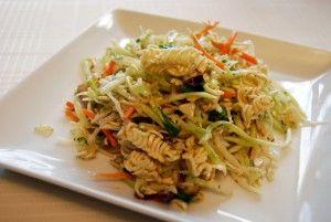 Salada de massa asiática