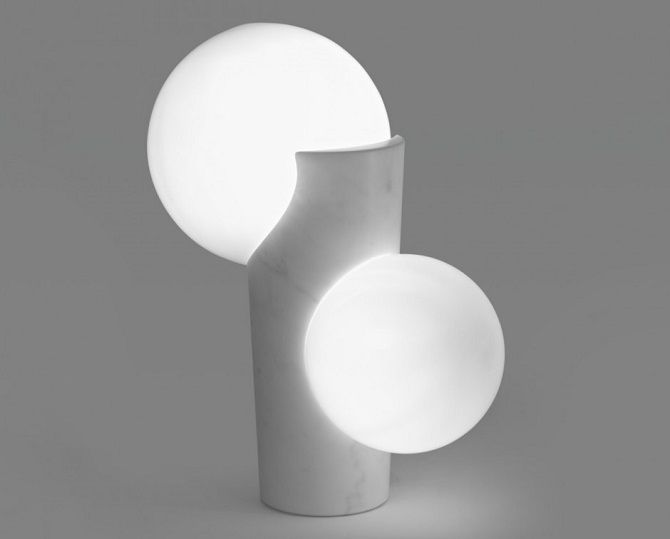 marble composition gives light