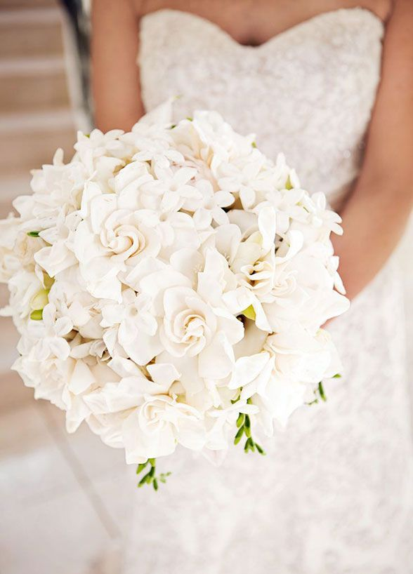 Fall in love with the sweet smell of gardenias! Along with their captivating aroma, gardenias also look lovely as a bridal bouquet.