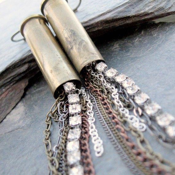earrings from bullets (!)