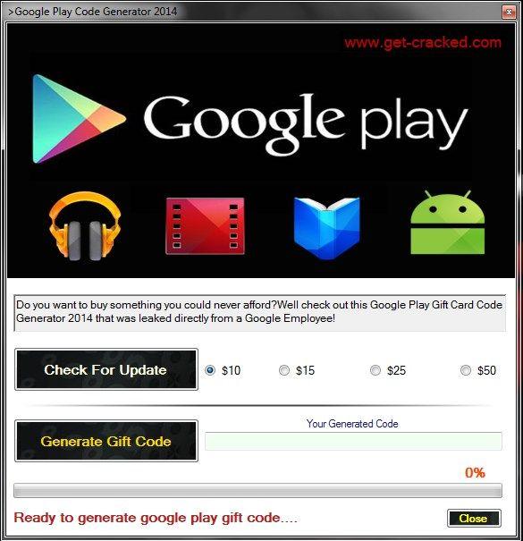 Google Play Code Generator 2017