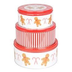 Set of 3 Gingerbread Candy Cake Tins #DunelmPinterWonderland #Christmas #Comp #Win #Dunelm