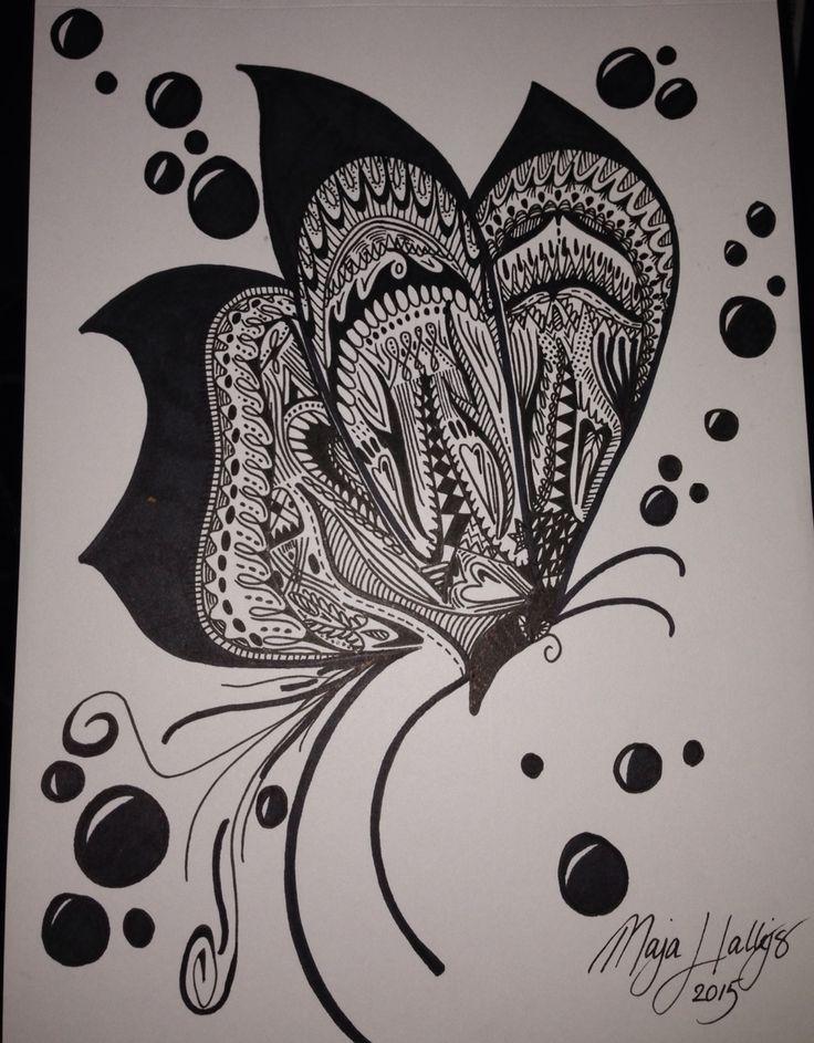 Flyvende sommerfugl