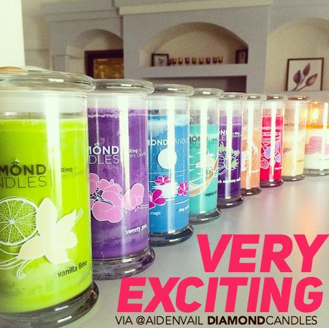 RePin this if you get excited for Diamond Candles!