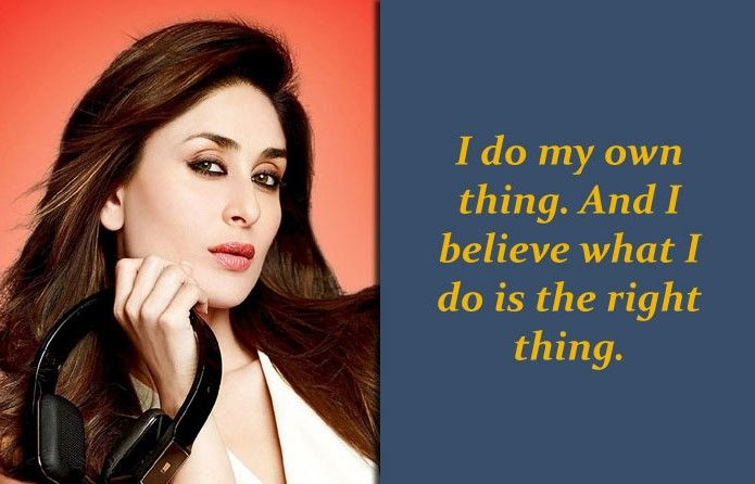 Kareena Kapoor Quotes In 2020 Inspirational Quotes Quotations Quotes