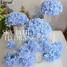 Luyue 20 stks Bruiloft Decoratie Hydrangea Bloemhoofdjes 15 cm Kunstmatige DIY Zijde Kunstmatige Wedding Simulatie Bloemen Accessoires(China (Mainland))