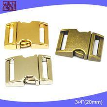 Laiton métal boucles pour sacs, 3/4 boucle à déclenchement latéral, Boucle en métal pour sacs à main