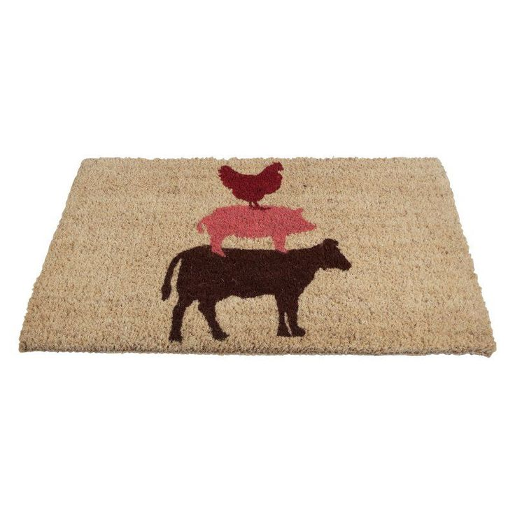 TAG Stacked Farm Animals Coir Door Mat - TAG205798