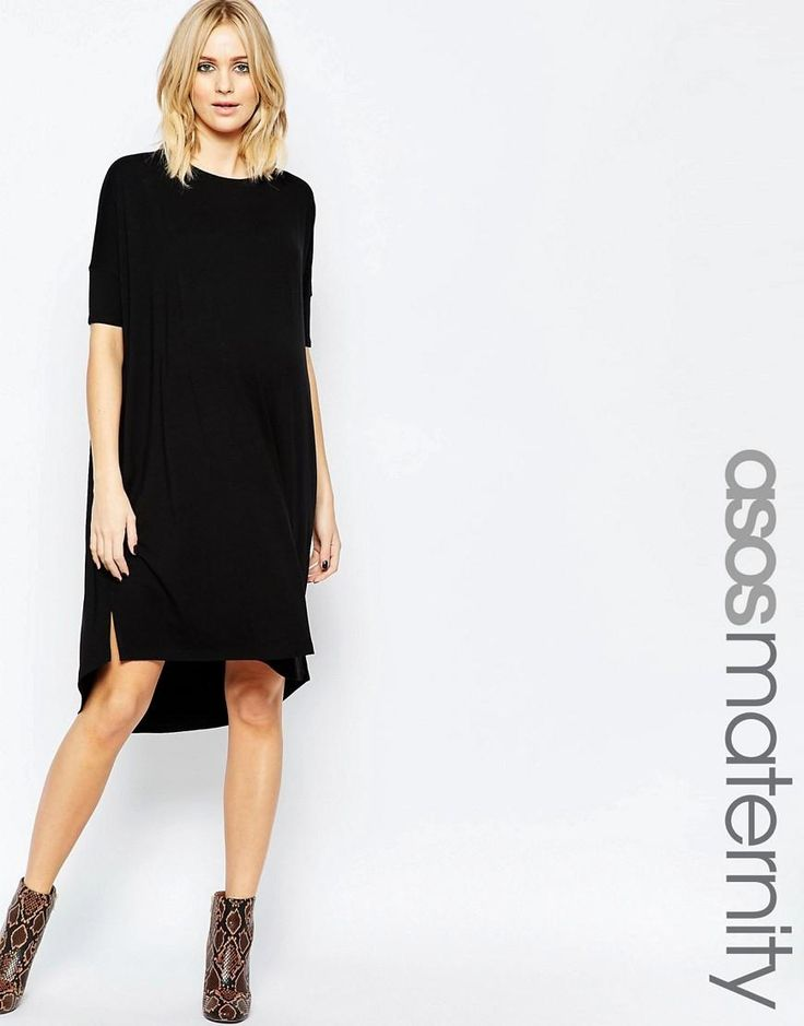 ASOS Maternity | ASOS Maternity Midi T Shirt Dress at ASOS