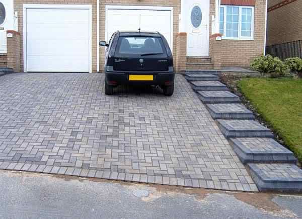 12 best sloped drives images on pinterest driveways for Cost of building on a steep slope