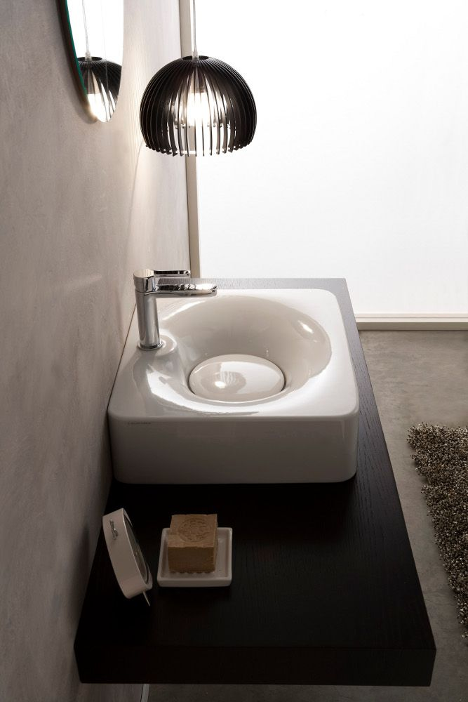 Fuji by Scarabeo Ceramiche | #design by Emo DesignIn at Salone Internazionale del Bagno 2014 #milandesignweek @Scarabeo Ceramiche