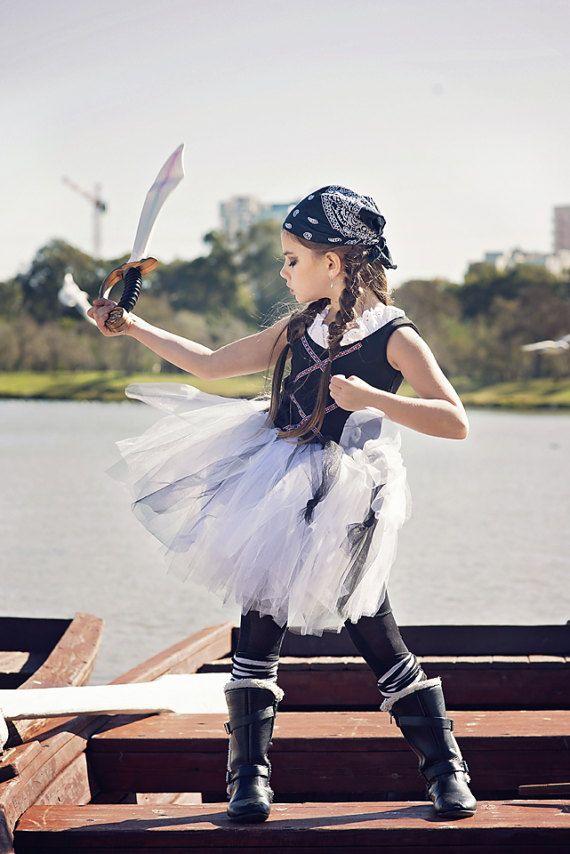 Girls Pirate Tutu HALLOWEEN Pirate Costume Girls Pirate
