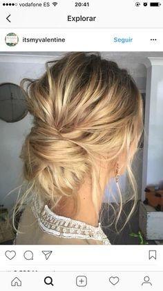 Schöne einfache geflochtene Brötchen für mittleres Haar