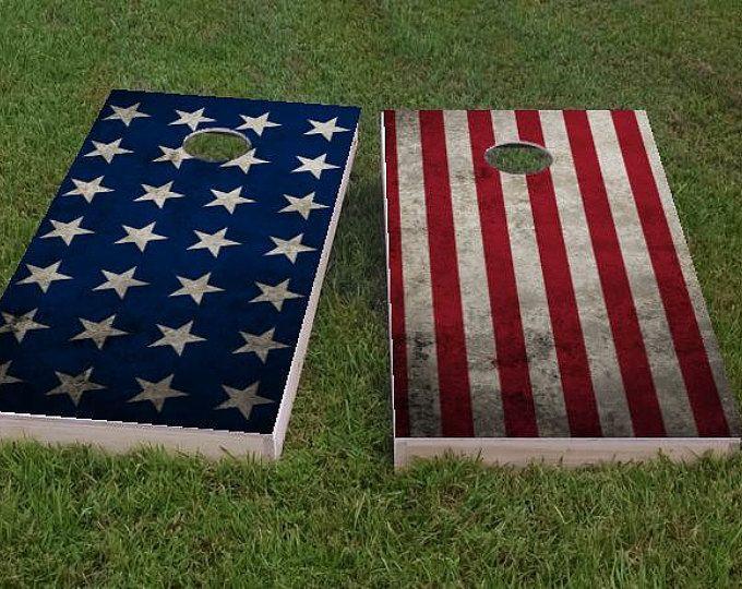 Stars Amp Stripes American Flag Themed 2x4 Custom Cornhole