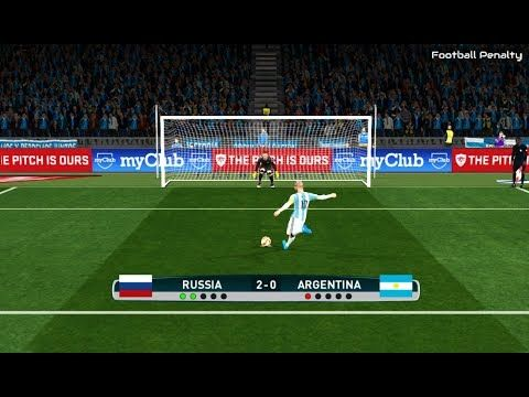 Russia vs Argentina | Penalty Shootout | PES 2017 Gameplay
