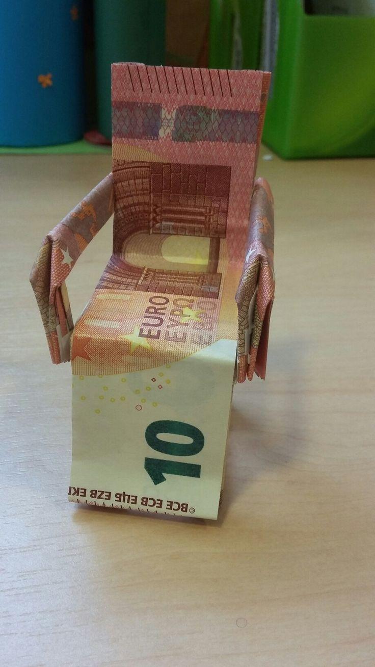 Sessel hochzeit Geldgeschenke, Geldgeschenke falten, Geldschein origami ~ 25185123_Liegestuhl Aus Geld Und Eisstielen